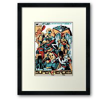 HANNA-BARBERA SUPER HEROES Framed Print