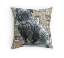 Greyfriars Bobby statue, Edinburgh  Throw Pillow