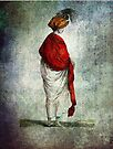 FASHIONABLE LADIES RED SHAWL 1799 by Tammera