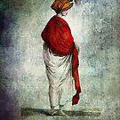 FASHIONABLE LADIES RED SHAWL 1799 by Tammera