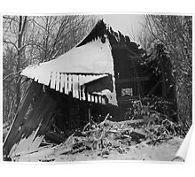 Abandoned Barn in Snow - Bea Kennedy Photography Poster