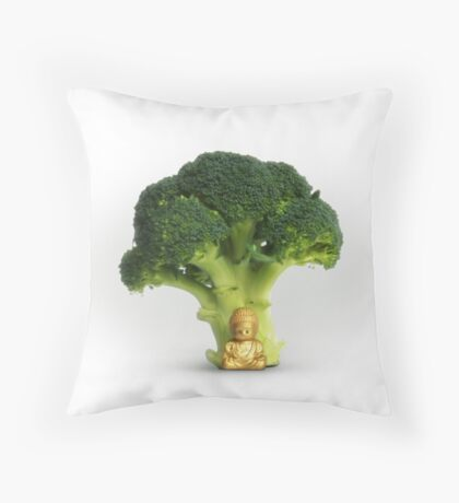 Under the Broccoli Tree Throw Pillow