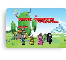 Adventure Time- Choose Character Canvas Print