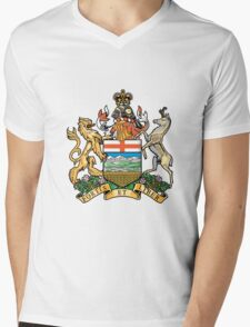 Coat of Arms Alberta Mens V-Neck T-Shirt