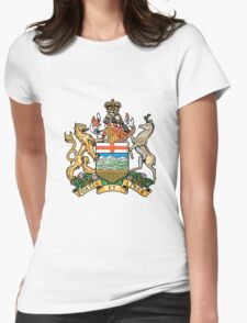 Coat of Arms Alberta Womens Fitted T-Shirt