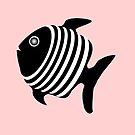 Black And White Angel Fish  by biglnet