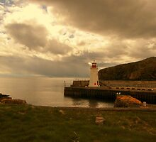Brooding Sky Lybster Lighthouse by JJsEscape