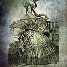 FASHIONABLE LADIES WALKING DRESS WITH UMBRELLA 1832 by Tammera