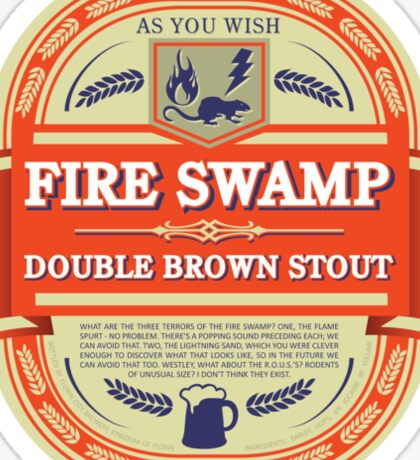 Fire Swamp Double Brown Stout Sticker
