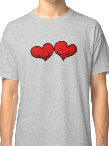 Sweet 2 red hearts in love Classic T-Shirt