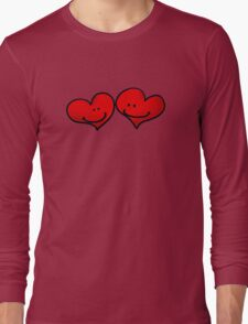 Sweet 2 red hearts in love Long Sleeve T-Shirt