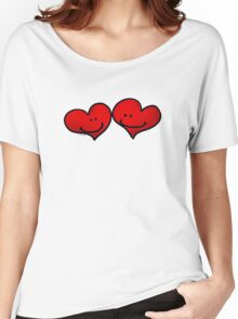 Sweet 2 red hearts in love Women's Relaxed Fit T-Shirt
