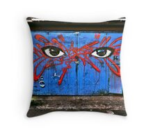 My dog sighs in Camden Throw Pillow