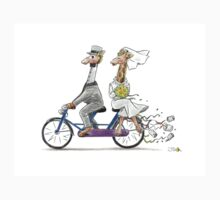 Wedding giraffes on bicycle Kids Clothes
