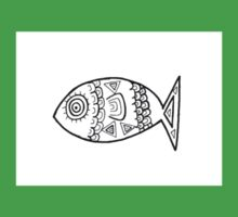 Illustrated Fish Kids Clothes