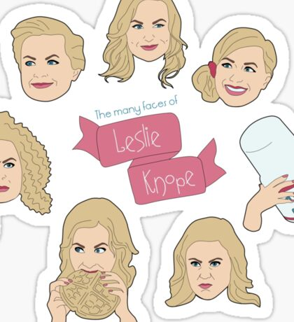 The Many Faces of Leslie Knope Sticker