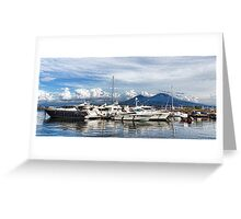 Vesuvius and Naples Harbor - Mediterranean Impressions Greeting Card