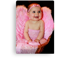 Baby in Pink #2 Canvas Print