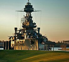 U.S.S. Texas Battleship by Ann Reece