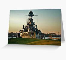 U.S.S. Texas Battleship Greeting Card