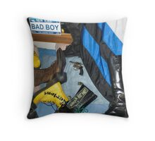 Bad boy room! Throw Pillow