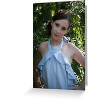 Model in action Greeting Card