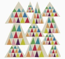 Geometeric Multicolor Triangle Pattern Baby Tee