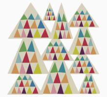 Geometeric Multicolor Triangle Pattern Kids Tee