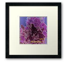 ( PURPLE C ) ERIC  WHITEMAN  ART   Framed Print