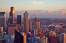 Gleaming Seattle Sunset by John Carpenter