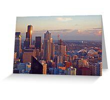 Gleaming Seattle Sunset Greeting Card