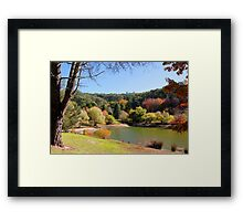 Autumn by the lake Framed Print
