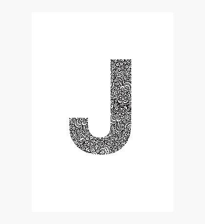 J Photographic Print