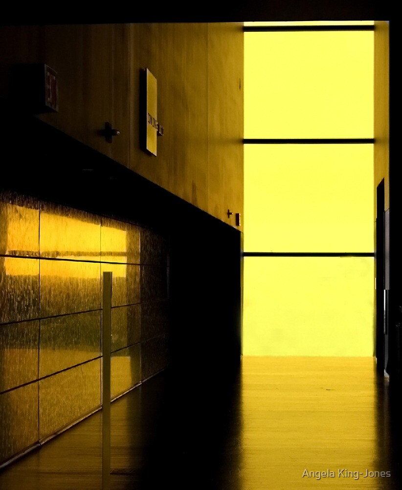 She looked outside and the world was bathed in an eerie golden light by Angela King-Jones