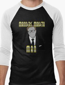 Mind Your Manners Men's Baseball ¾ T-Shirt
