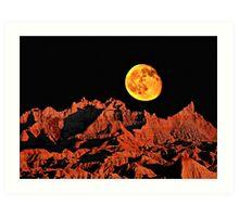 Martian peaks on Earth? Art Print