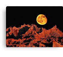 Martian peaks on Earth? Canvas Print