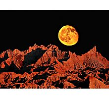 Martian peaks on Earth? Photographic Print
