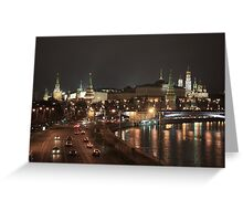 Moscow night Greeting Card