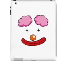 Orange nose circus clown face iPad Case/Skin