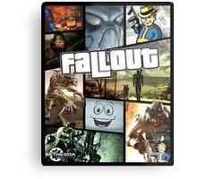 Fallout (GTA Style) Metal Print