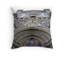 Cathedral Grandeur -- Ornate Architecture Throw Pillow