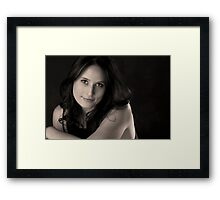 Brown eyed girl Framed Print