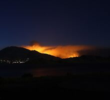 Bull Run Fire, Near River Kern, Behind Kernville 7/26/2010 by Corri Gryting Gutzman