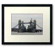 HMS Belfast and HMS Richmond London Framed Print