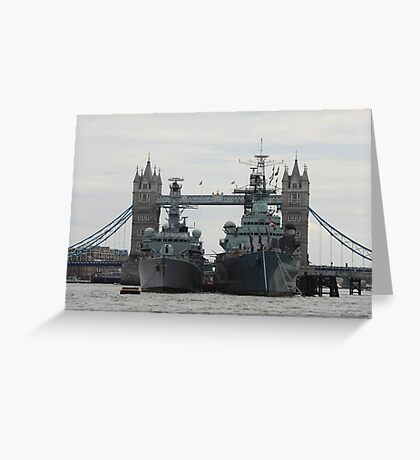 HMS Belfast and HMS Richmond London Greeting Card