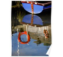 Boats Reflection Poster