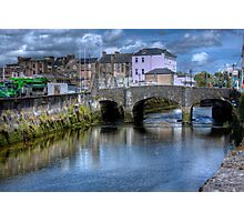 The Canal and a Bridge - Cork, Ireland Photographic Print