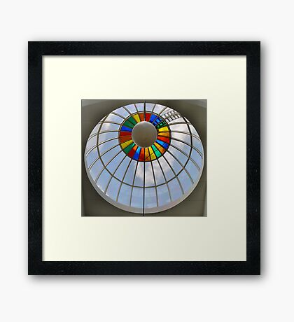 Rainbow circle up above Framed Print