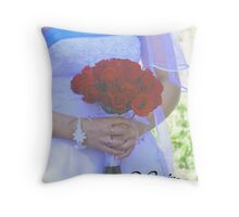 Engagement Card Throw Pillow